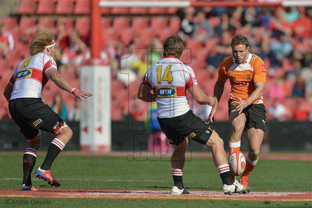 During the ABSA Currie Cup match between the MTN Golden Lions and the Toyota Cheetahs played at Ellis Park, Johannesburg on 10 August 2013.